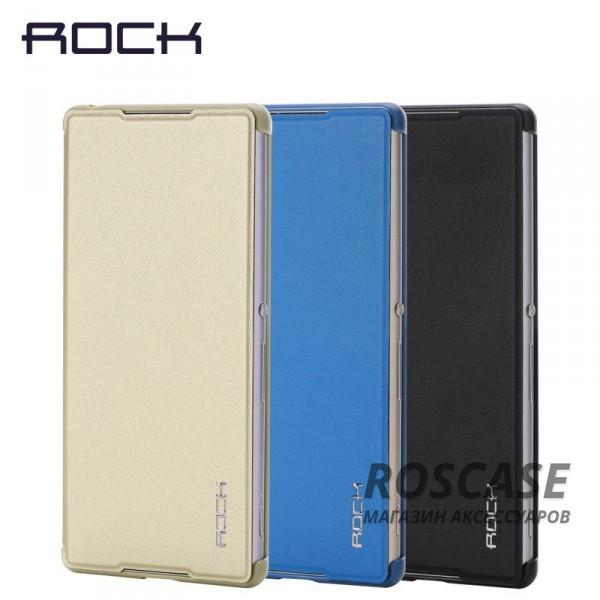 Кожаный чехол (книжка) Rock Delight Series для Sony Xperia Z3+/Xperia Z3+ DualОписание:производитель  - &amp;nbsp;Rock;совместим с Sony Xperia Z3+/Xperia Z3+ Dual;материал  -  кожзам;форма  -  чехол-книжка.&amp;nbsp;Особенности:может выполнять роль подставки;имеет необходимые вырезы;не увеличивает габариты планшета;защищает от ударов и падений;на нем не остаются отпечатки пальцев .<br><br>Тип: Чехол<br>Бренд: ROCK<br>Материал: Искусственная кожа