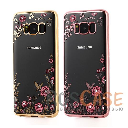 Прозрачный чехол со стразами для Samsung G950 Galaxy S8 с глянцевым бамперомОписание:совместим с Samsung G950 Galaxy S8;глянцевая окантовка;цветочный узор;материал - TPU;тип - накладка;предусмотрены все вырезы;стразы.<br><br>Тип: Чехол<br>Бренд: Epik<br>Материал: TPU
