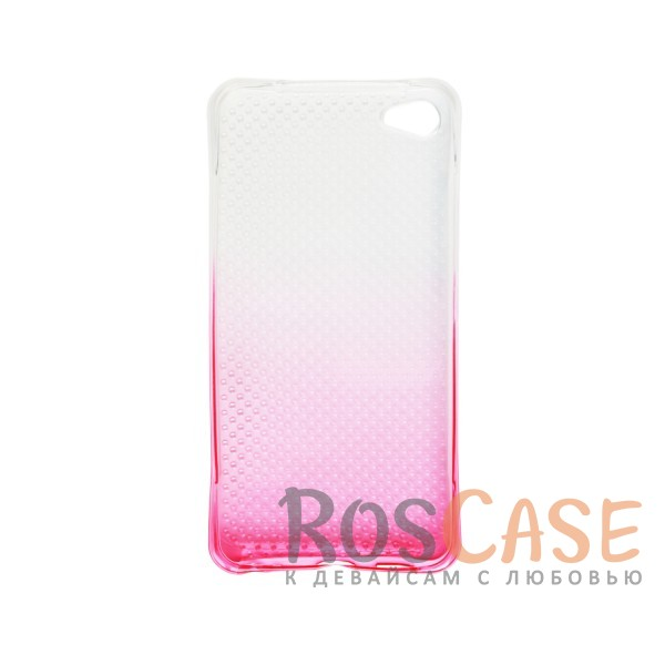 Фотография Розовый Гибкий чехол для Meizu U20 из прозрачного силикона с градиентным цветным напылением