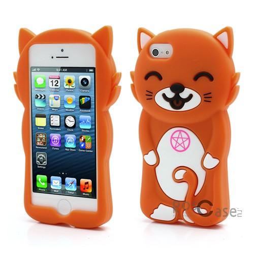 """фото силиконовый чехол """"Смешной коте"""" для Apple iPhone 5/5S/5SE"""