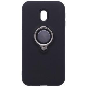 Deen | Матовый чехол для Samsung J330 Galaxy J3 (2017) с креплением под магнитный держатель и кольцом-подставкой