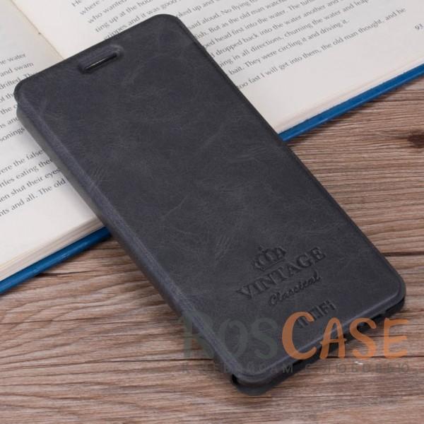 Винтажный кожаный чехол-книжка MOFI Vintage с функцией автоматического выключения дисплея Smart sleep для Xiaomi Redmi Note 4 (MTK) (Темно-серый)Описание:компания-производитель: Mofi;совместимость: Xiaomi Redmi Note 4 (MTK);материалы: искусственная кожа, термополиуретан;функция подставки;функция Smart-sleep;отделение для карточек или купюр;формат: чехол-книжка;винтажный стиль.<br><br>Тип: Чехол<br>Бренд: Mofi<br>Материал: Искусственная кожа