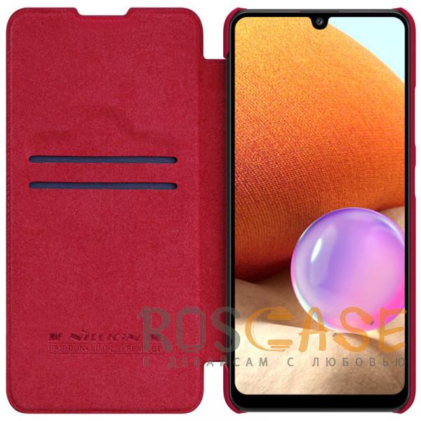 Фото Красный Nillkin Qin   Чехол-книжка из Premium экокожи для Samsung Galaxy A32 4G