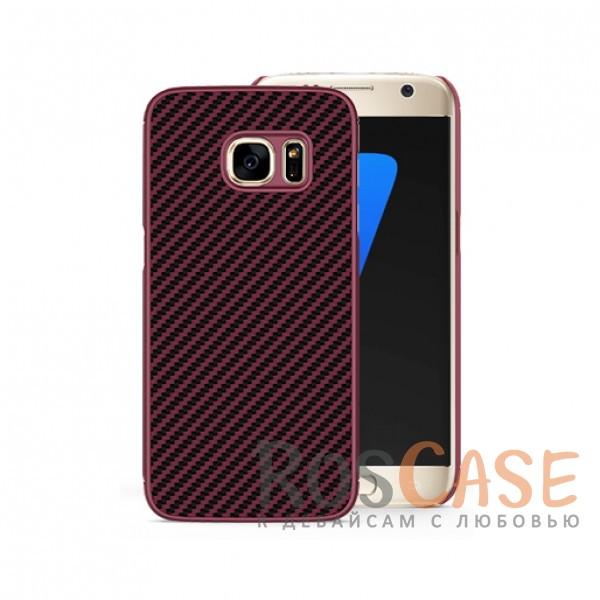 Пластиковая накладка Nillkin Synthetic Fiber series для Samsung G930F Galaxy S7 (Красный)<br><br>Тип: Чехол<br>Бренд: Nillkin<br>Материал: TPU
