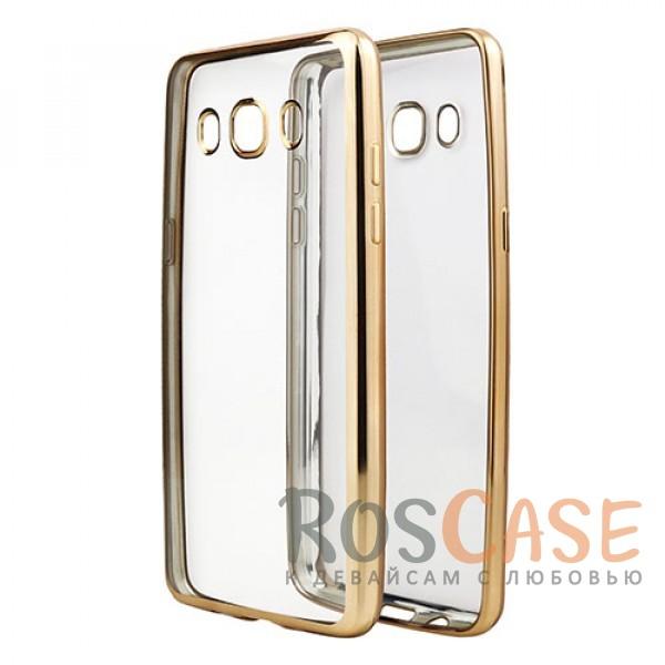 Прозрачный силиконовый чехол для Samsung J510F Galaxy J5 (2016) с глянцевой окантовкой (Золотой)Описание:материал - силикон;совместим с Samsung J510F Galaxy J5 (2016);тип - накладка.Особенности:прозрачный;глянцевая окантовка;все вырезы предусмотрены;защищает от царапин и потертостей;тонкий дизайн;плотно облегает корпус.<br><br>Тип: Чехол<br>Бренд: Epik<br>Материал: TPU