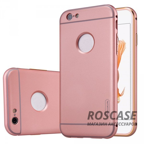Прочная металлическая накладка с автодержателем (2 в 1) и олеофобным покрытием для Apple iPhone 6/6s (4.7) (Rose Gold)Описание:производитель  - &amp;nbsp;Nillkin;совместим с Apple iPhone 6/6s (4.7);материал  -  металл;тип  -  накладка.&amp;nbsp;Особенности:прочная;в комплекте автомобильный держатель;олеофобное покрытие;окошко для логотипа;защищает от механических повреждений;функция подставки.<br><br>Тип: Чехол<br>Бренд: Nillkin<br>Материал: Металл