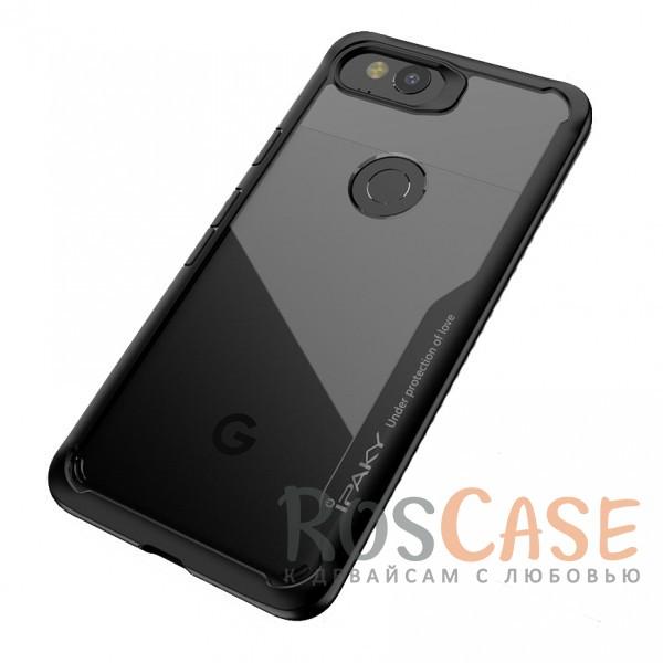 Фотография Черный iPaky Luckcool | Чехол для Google Pixel 2 с цветными силиконовыми вставками