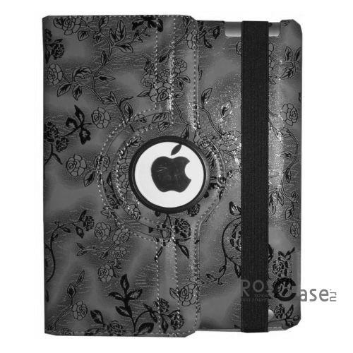 фото TTX (BLACK Flowers) (360 градусов) для Apple Ipad 2/3/4