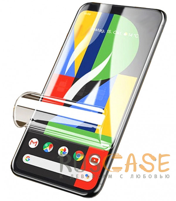 Фото Прозрачная Гидрогелевая защитная плёнка Rock для Google Pixel 4