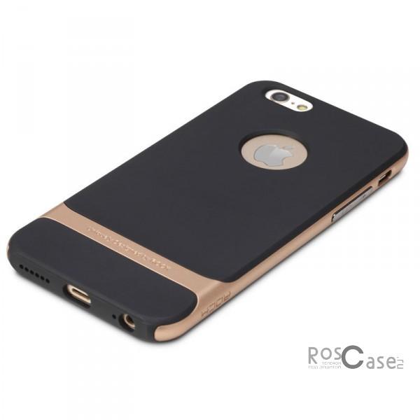 Rock Royce | Чехол для Apple iPhone 6 plus (5.5)  / 6s plus (5.5) (Черный / Золотой)Описание:производитель  -  компания Rock;разработан для Apple iPhone 6 plus (5.5)  / 6s plus (5.5);материалы  -  полиуретан, поликарбонат;тип  -  накладка.&amp;nbsp;Особенности:тонкий и легкий;окантовка из поликарбоната;в наличии все функциональные вырезы;легкая очистка;хорошее сцепление с поверхностями;защищает от механических повреждений;легкая установка и удаление.<br><br>Тип: Чехол<br>Бренд: ROCK<br>Материал: TPU