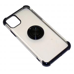 Deen CrystalRing | Прозрачный TPU чехол с кольцом под магнитный держатель  для Apple iPhone 11 Pro Max
