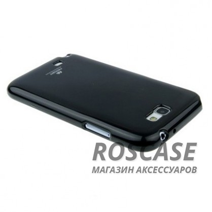 фото Черный TPU чехол Mercury Jelly Color series для Samsung N7100 Galaxy Note 2