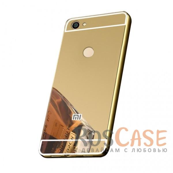 Защитный металлический бампер с зеркальной вставкой для Xiaomi Redmi Note 5A Prime / Y1 (Золотой)Описание:разработан для Xiaomi Redmi Note 5A Prime / Y1;материалы - металл, акрил;тип - бампер с задней панелью;зеркальная поверхность;металлический бампер;защита от царапин и ударов.<br><br>Тип: Чехол<br>Бренд: Epik<br>Материал: Металл