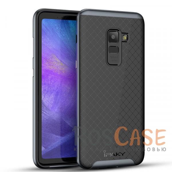 Фото Черный / Серый iPaky Hybrid | Противоударный чехол для Samsung A730 Galaxy A8+ (2018)