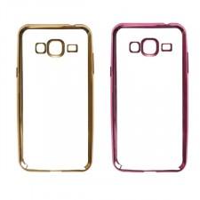 Силиконовый чехол для Samsung J310 Galaxy J3 Pro с глянцевой окантовкой