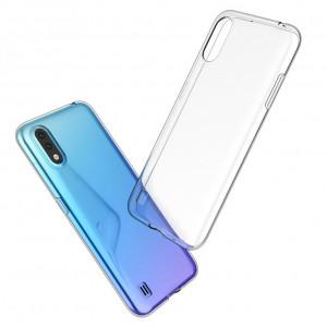 Прозрачный силиконовый чехол  для Samsung Galaxy A01
