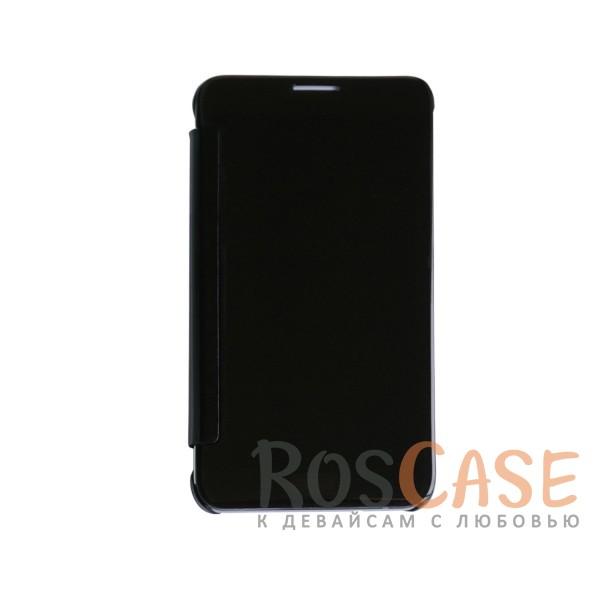 Чехол-книжка с полупрозрачной акриловой крышкой с зеркальным покрытием для Samsung J710F Galaxy J7 (Черный)<br><br>Тип: Чехол<br>Бренд: Epik<br>Материал: Пластик
