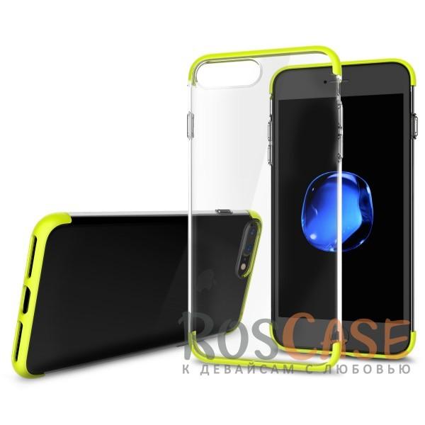 TPU+PC чехол Rock Cheer Series для Apple iPhone 7 plus (5.5) (Зеленый)Описание:компания&amp;nbsp;Rock;материалы: термополиуретан, поликарбонат;совместимость: Apple iPhone 7 plus (5.5);тип: накладка.<br><br>Тип: Чехол<br>Бренд: ROCK<br>Материал: TPU
