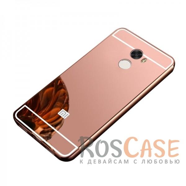 Защитный металлический бампер с зеркальной вставкой для Xiaomi Redmi 4 (Розовый)Описание:разработан для Xiaomi Redmi 4;материалы - металл, акрил;тип - бампер с задней панелью.<br><br>Тип: Чехол<br>Бренд: Epik<br>Материал: Металл