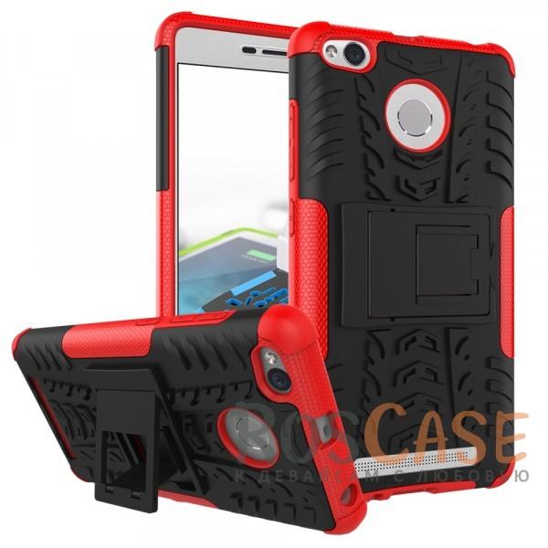 Противоударный двухслойный чехол Shield для Xiaomi Redmi 3 Pro / Redmi 3s с подставкой (Красный)Описание:разработан специально для Xiaomi Redmi 3 Pro / Redmi 3s;материалы: поликарбонат, термополиуретан;тип: накладка.&amp;nbsp;Особенности:двухслойный;ударопрочный;оригинальный дизайн;стильный дизайн;в наличии все функциональные вырезы;функция подставки.<br><br>Тип: Чехол<br>Бренд: Epik<br>Материал: TPU