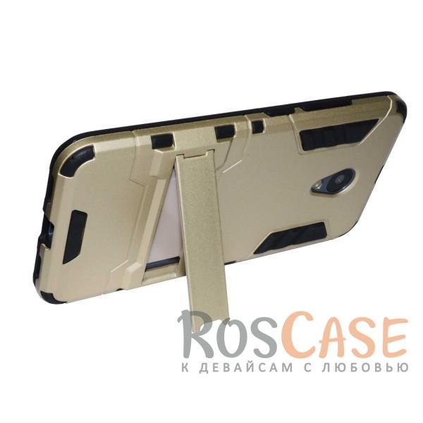 Фото Золотой / Champagne Gold Transformer | Противоударный чехол для Meizu M3 / M3 mini / M3s с мощной защитой корпуса