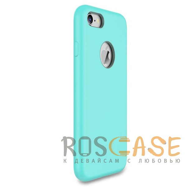 """Фотография Голубой / Light Blue Rock Silicon   Ультратонкий чехол для Apple iPhone 7 / 8 (4.7"""") из силикона"""