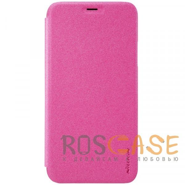 """Фотография Розовый Nillkin Sparkle   Чехол-книжка с вырезом под логотип для Apple iPhoneX(5.8"""")/XS(5.8"""")"""