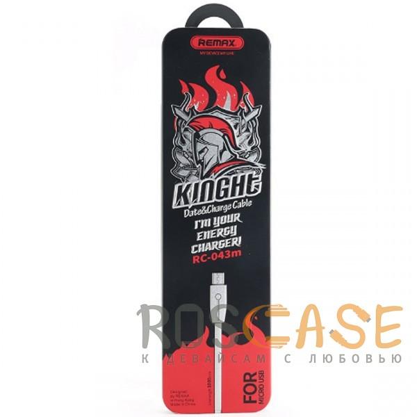 Изображение Черный Remax RC-043m Knight | Дата кабель USB to MicroUSB со световым индикатором (100 см)