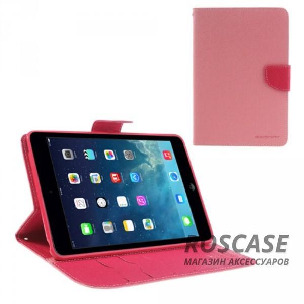 Чехол (книжка) Mercury Fancy Diary series для iPad Mini / iPad Mini Retina/ iPad mini 3 (Розовый / Малиновый)Описание:производитель  -  бренд&amp;nbsp;Mercury;совместим с iPad Mini / iPad Mini Retina/ ipad mini 3;материалы  -  искусственная кожа, термополиуретан;форма  -  чехол-книжка.&amp;nbsp;Особенности:рельефная поверхность;все функциональные вырезы в наличии;внутренние кармашки;магнитная застежка;защита от механических повреждений;трансформируется в подставку.<br><br>Тип: Чехол<br>Бренд: Mercury<br>Материал: Искусственная кожа