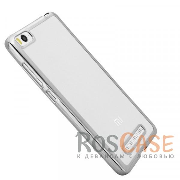 Прозрачный силиконовый чехол для Xiaomi Mi 4i / Mi 4c с глянцевой окантовкой (Серебряный)Описание:подходит для Mi 4i / Mi 4c;материал - силикон;тип - накладка.Особенности:глянцевая окантовка;прозрачный центр;гибкий;все вырезы в наличии;не скользит в руках;ультратонкий.<br><br>Тип: Чехол<br>Бренд: Epik<br>Материал: TPU