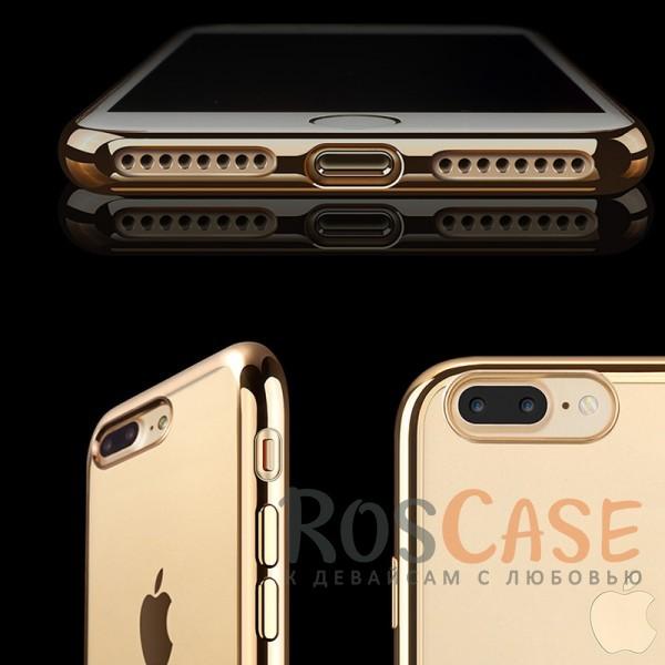 """Фотография Золотой Силиконовый чехол для Apple iPhone 7 plus / 8 plus (5.5"""") с глянцевой окантовкой"""
