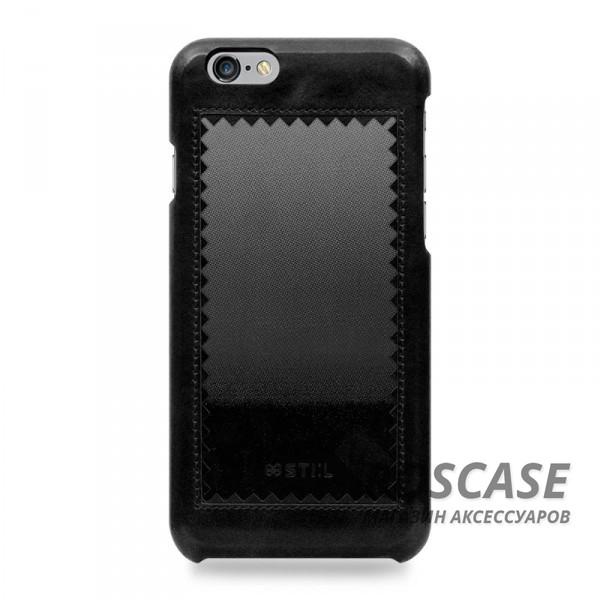 """Фото Черный STIL Horizon   Кожаный чехол для Apple iPhone 6/6s (4.7"""") с зигзагообразной окантовкой"""