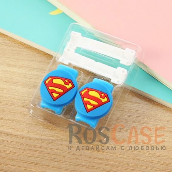 Цветной протектор от залома и перегиба кабеля с оригинальным дизайном (Superman)Описание:протектор для защиты кабеля от заломов;оригинальный дизайн;аксессуар очень компактный;размер - 1*3,5 см;помогает увеличить срок службы кабеля.<br><br>Тип: Общие аксессуары<br>Бренд: Epik