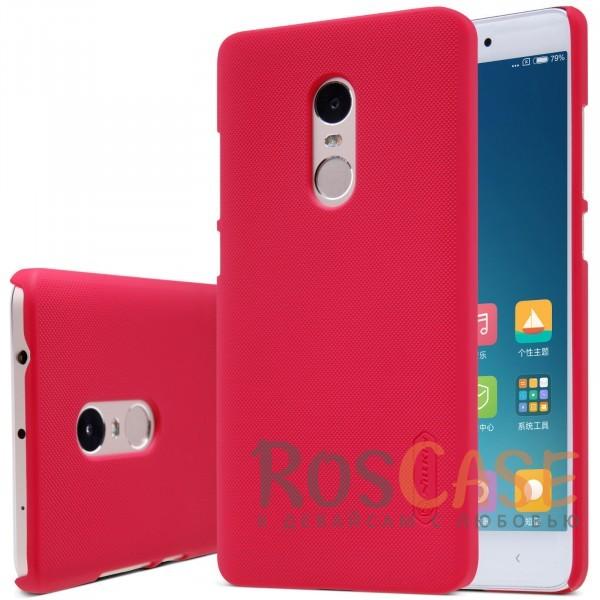 Чехол Nillkin Matte для Xiaomi Redmi Note 4 (+ пленка) (Красный)Описание:бренд:&amp;nbsp;Nillkin;разработан для Xiaomi Redmi Note 4;материал: поликарбонат;тип: накладка.Особенности:не скользит в руках благодаря рельефной поверхности;защищает от повреждений;прочный и долговечный;легко устанавливается и снимается;пленка для защиты экрана в комплекте.<br><br>Тип: Чехол<br>Бренд: Nillkin<br>Материал: Пластик