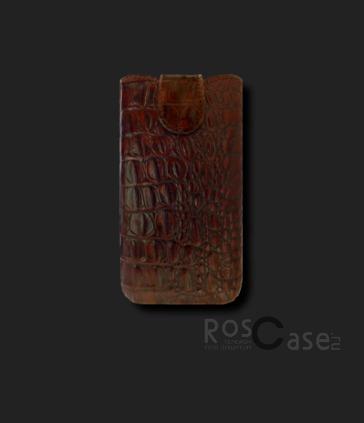 фото кожаный футляр Mavis Classic Crocodile для i9082/IQ450/IQ451