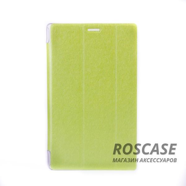 Антиударный чехол-книжка TTX Elegant из эко-кожи с функцией подставки (несколько углов наклона) для Asus ZenPad 8.0 (Z380C) (Зеленый)Описание: производитель: компания TTX;подходит девайсам: Asus ZenPad 8.0 (Z380C);изготовлен из материалов: пластик, полиуретан, искусственный материал под кожу;форма: чехол в виде книжки.Особенности: современная технологическая обработка;полное соответствие форме устройства;необходимые разъемы;уникальная поверхность чехла.<br><br>Тип: Чехол<br>Бренд: TTX<br>Материал: Искусственная кожа