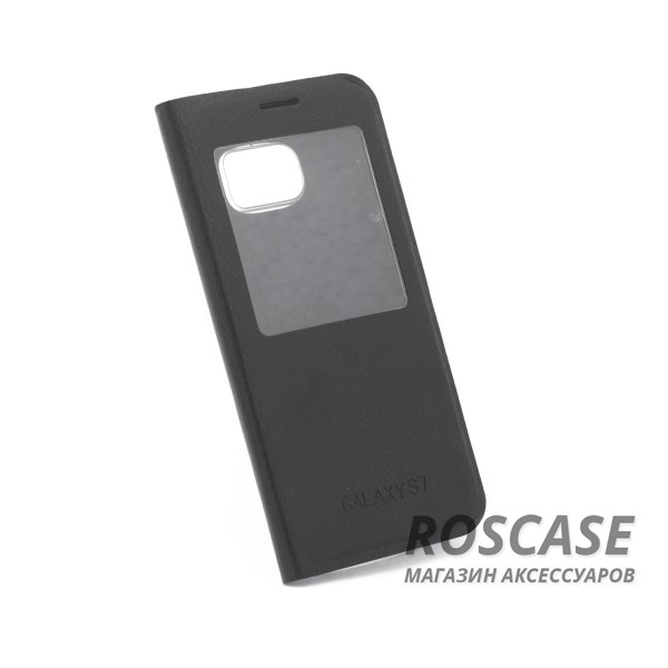 Чехол (книжка) с PC креплением для Samsung G930F Galaxy S7 (Черный)Описание:разработан компанией&amp;nbsp;Epik;спроектирован для Samsung G930F Galaxy S7;материалы: синтетическая кожа, поликарбонат;тип: чехол-книжка.&amp;nbsp;Особенности:имеются все функциональные вырезы;не скользит в руках;магнитная застежка;окошки в обложке;защита от ударов и падений;превращается в подставку.<br><br>Тип: Чехол<br>Бренд: Epik<br>Материал: Искусственная кожа
