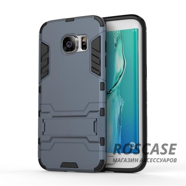 Ударопрочный чехол-подставка Transformer для Samsung G935F Galaxy S7 Edge с мощной защитой корпуса (Серый / Metal slate)Описание:подходит для Samsung G935F Galaxy S7 Edge;материалы: термополиуретан, поликарбонат;формат: накладка.&amp;nbsp;Особенности:функциональные вырезы;функция подставки;двойная степень защиты;защита от механических повреждений;не скользит в руках.<br><br>Тип: Чехол<br>Бренд: Epik<br>Материал: TPU