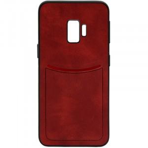 ILEVEL | Чехол с кожаным покрытием и с карманом-визитницей для Samsung Galaxy S9