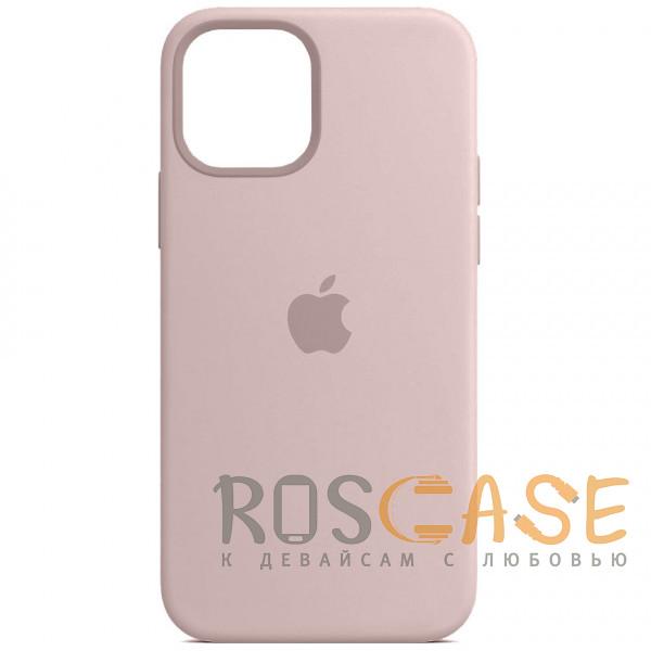 Фото Розовый песок Силиконовый чехол Silicone Case с микрофиброй для iPhone 12 Pro Max