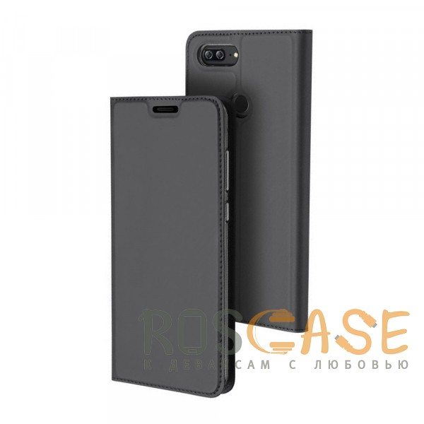 Фото Серый Dux Ducis | Чехол-книжка для Huawei Honor 9 Lite с функцией подставки и картхолдером
