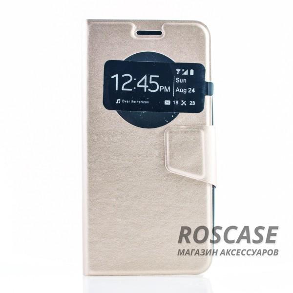 Чехол (книжка) с TPU креплением для Asus Zenfone 5 (A501CG) (Золотой)Описание:разработан компанией&amp;nbsp;Epik;спроектирован для Asus Zenfone 5 (A501CG);материал: синтетическая кожа;тип: чехол-книжка.&amp;nbsp;Особенности:имеются все функциональные вырезы;магнитная застежка закрывает обложку;защита от ударов и падений;в обложке есть окошко;превращается в подставку.<br><br>Тип: Чехол<br>Бренд: Epik<br>Материал: Искусственная кожа
