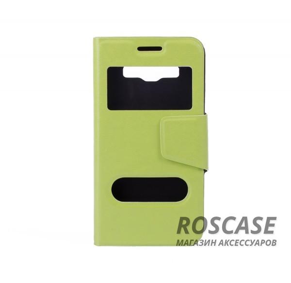 Чехол (книжка) с TPU креплением для Samsung A300H / A300F Galaxy A3 (Зеленый)Описание:компания разработчик: Epik;совместимость с устройством модели: Samsung A300H / A300F Galaxy A3;материал изделия: искусственная кожа и термополиуретан;конфигурация: обложка в виде книжки.Особенности:всесторонняя защита смартфона;высокий класс износоустойчивости;функция подставки;имеет два окошка;имеет все функциональные отверстия.<br><br>Тип: Чехол<br>Бренд: Epik<br>Материал: Искусственная кожа