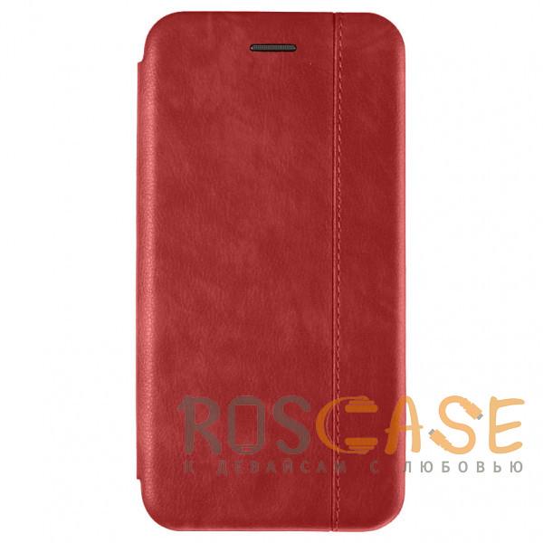 Фото Красный Open Color 2 | Кожаный чехол-книжка для Samsung Galaxy S10 с магнитом и подставкой