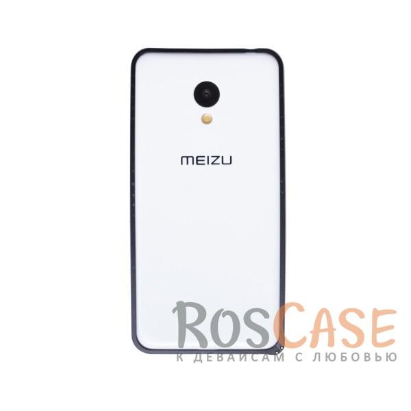 Металлический округлый бампер на пряжке для Meizu M3 / M3 mini / M3s (Черный)<br><br>Тип: Бампер<br>Бренд: Epik
