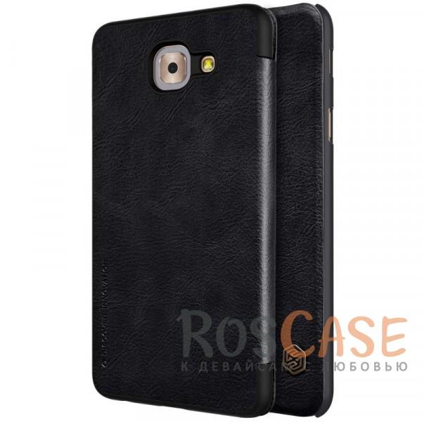 Чехол-книжка из натуральной кожи для Samsung G615 Galaxy J7 Max (Черный)Описание:бренд&amp;nbsp;Nillkin;разработан для Samsung G615 Galaxy J7 Max;материалы: натуральная кожа, поликарбонат;защищает гаджет со всех сторон;на аксессуаре не заметны отпечатки пальцев;карман для визиток;предусмотрены все необходимые вырезы;тонкий дизайн не увеличивает габариты девайса;тип: чехол-книжка.<br><br>Тип: Чехол<br>Бренд: Nillkin<br>Материал: Натуральная кожа