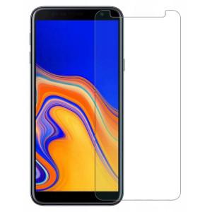 Защитное стекло 0.33mm (H+) для Samsung Galaxy J4 Plus (2018) неполноэкранное