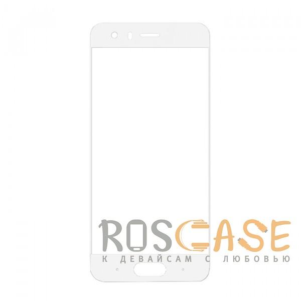 Фото Белый Защитное стекло с цветной рамкой на весь экран для Huawei Honor 9