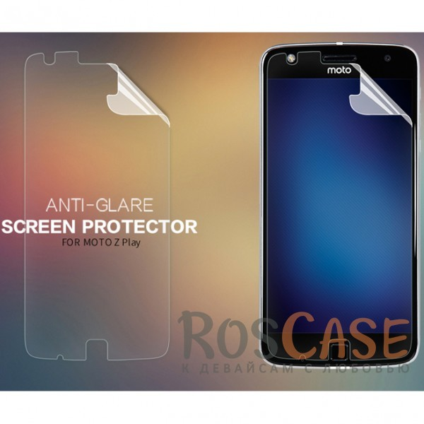 Матовая антибликовая защитная пленка на экран со свойством анти-шпион для Motorola Moto Z PlayОписание:производство компании&amp;nbsp;Nillkin;предназначена для Motorola Moto Z Play;материал: полимер;тип: матовая пленка;ультратонкая;защищает от царапин и потертостей;не влияет на отзыв сенсорных кнопок;размер пленки:&amp;nbsp;142*69&amp;nbsp;мм.<br><br>Тип: Защитная пленка<br>Бренд: Nillkin