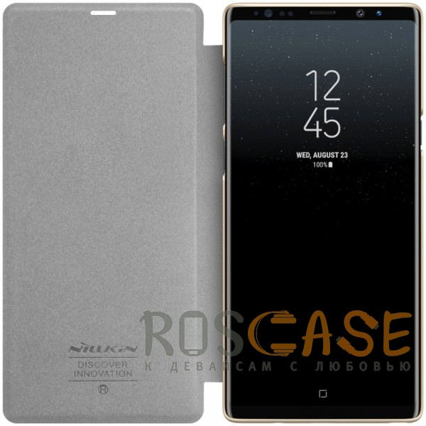 Изображение Золотой Nillkin Sparkle | Чехол-книжка для Samsung Galaxy Note 9